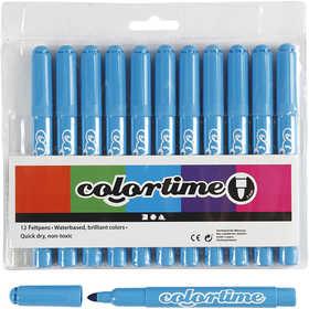 Colortime - Colortime Tusch,  5 mm spets, ljusblå, 12 st.