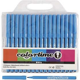 Colortime - Colortime Tusch,  2 mm spets, ljusblå, 18 st.
