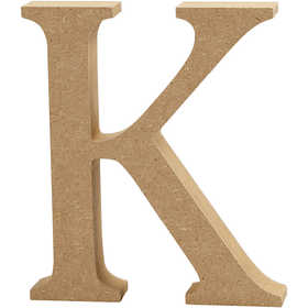 Bokstav, H: 13 cm, MDF, K, 1 st.