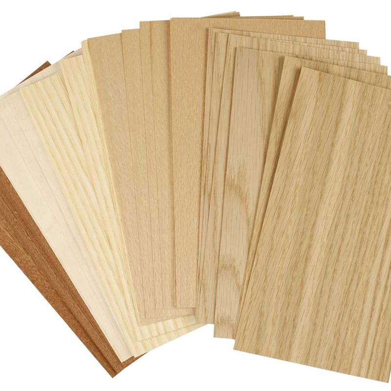 thin sheets of wood