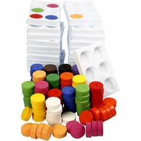 Colortime - Vattenfärg, dia. 44 mm, 1 set