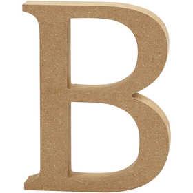 Bokstav, H: 13 cm, MDF, B, 1 st.