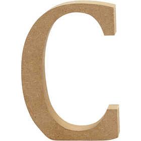Bokstav, H: 13 cm, MDF, C, 1 st.