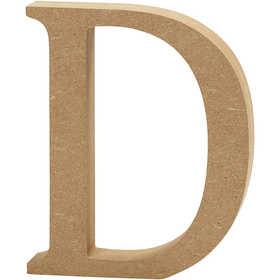 Bokstav, H: 13 cm, MDF, D, 1 st.