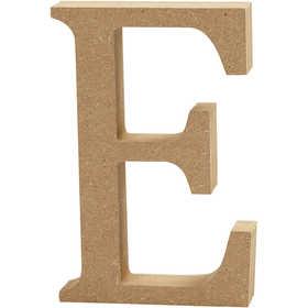 Bokstav, H: 13 cm, MDF, E, 1 st.