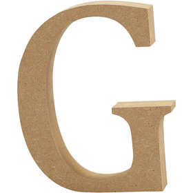 Bokstav, H: 13 cm, MDF, G, 1 st.
