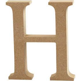 Bokstav, H: 13 cm, MDF, H, 1 st.