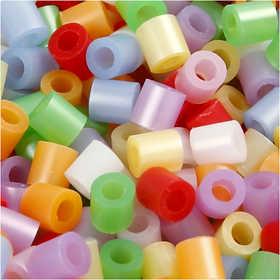 Nabbi - Midi-pärlor i hink, 5000 st pärlemorsfärger
