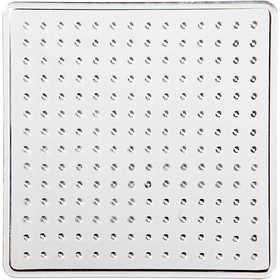 Nabbi - Pärl-plattor Kvadrat 9x9 cm transparent 10 st