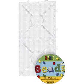 Nabbi - Pärl-platta med CD 15x15 cm Byggbara 2 st