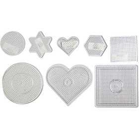 Nabbi - Pärl-plattor 7-15 cm transparent 8 mixade