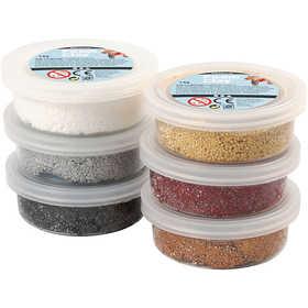 Foam Clay - Sortiment mixade färger metallic 6x14 g
