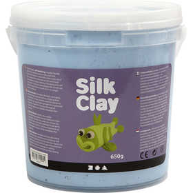 Silk Clay - Neonblå, 650 g