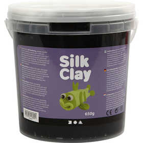 Silk Clay - Svart, 650 g