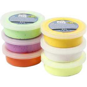 Silk Clay - Mixade färger, påsk, 6x14 g