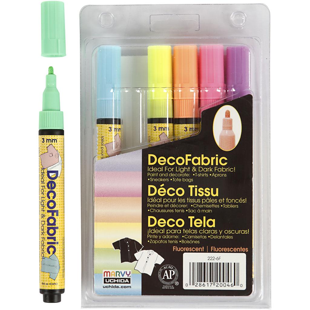 Deco tekstiltusch neonfarver
