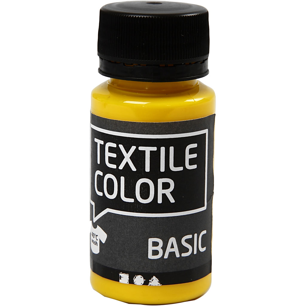 Textile Color, primær gul, 50ml