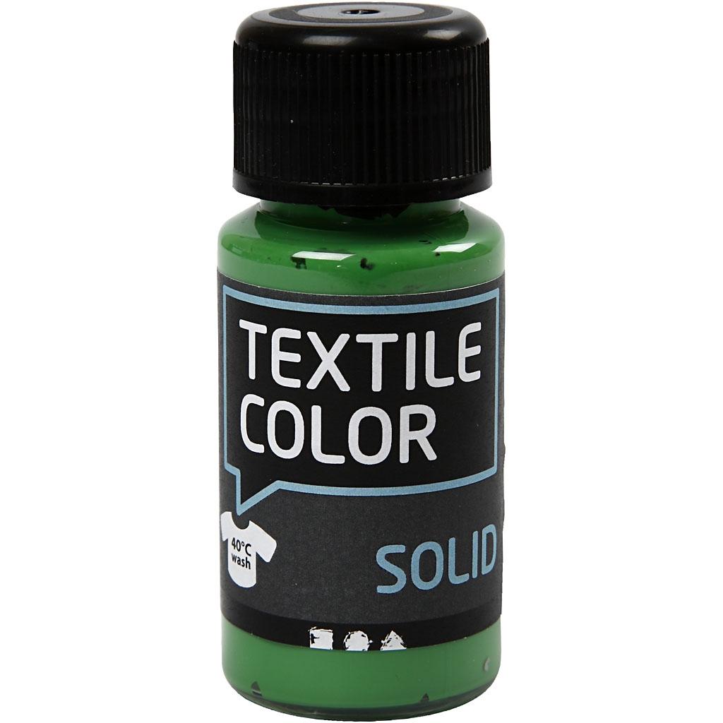 Textile Solid Mørk grøn