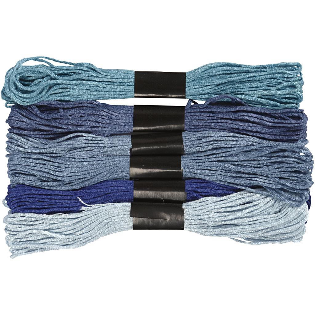 Harmoni broderigarn, tykkelse 1 mm, blå