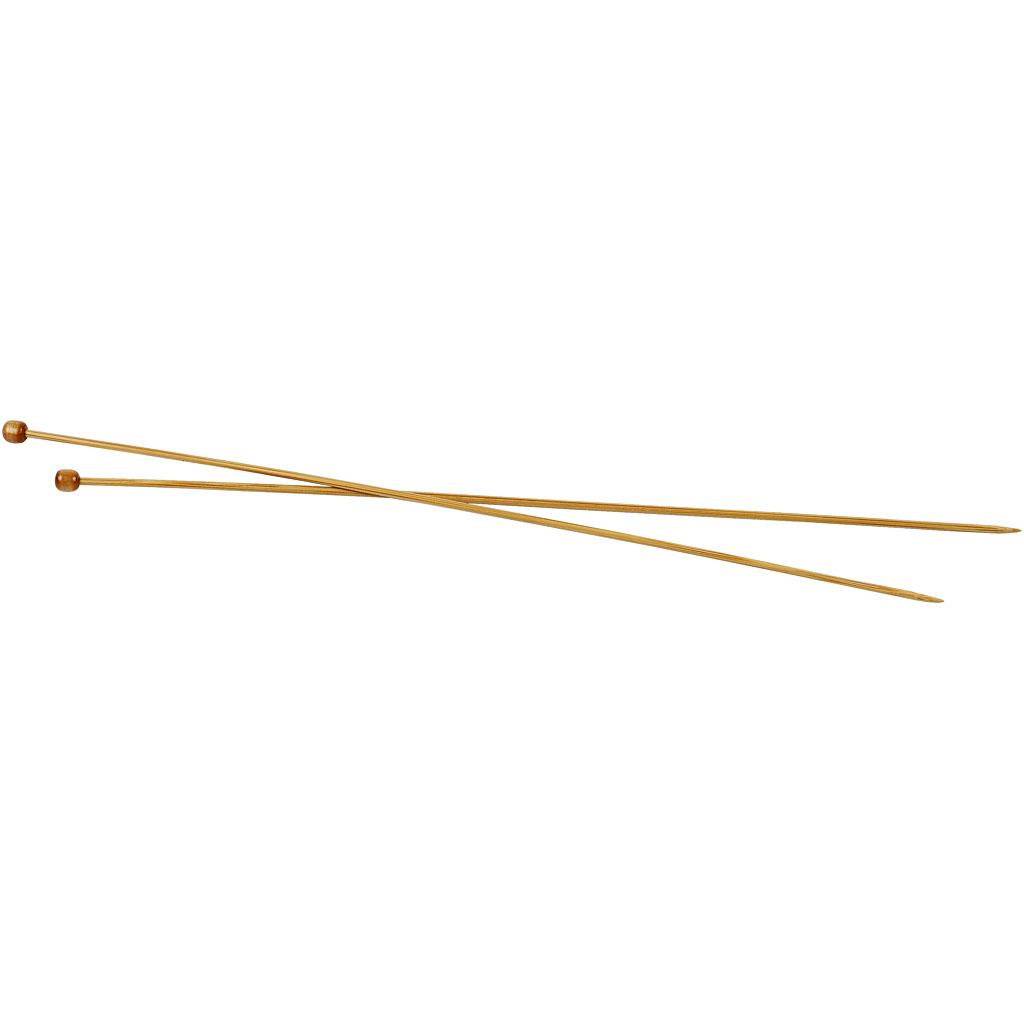 Strikkepinde, nr. 3 , L: 35 cm, 1par