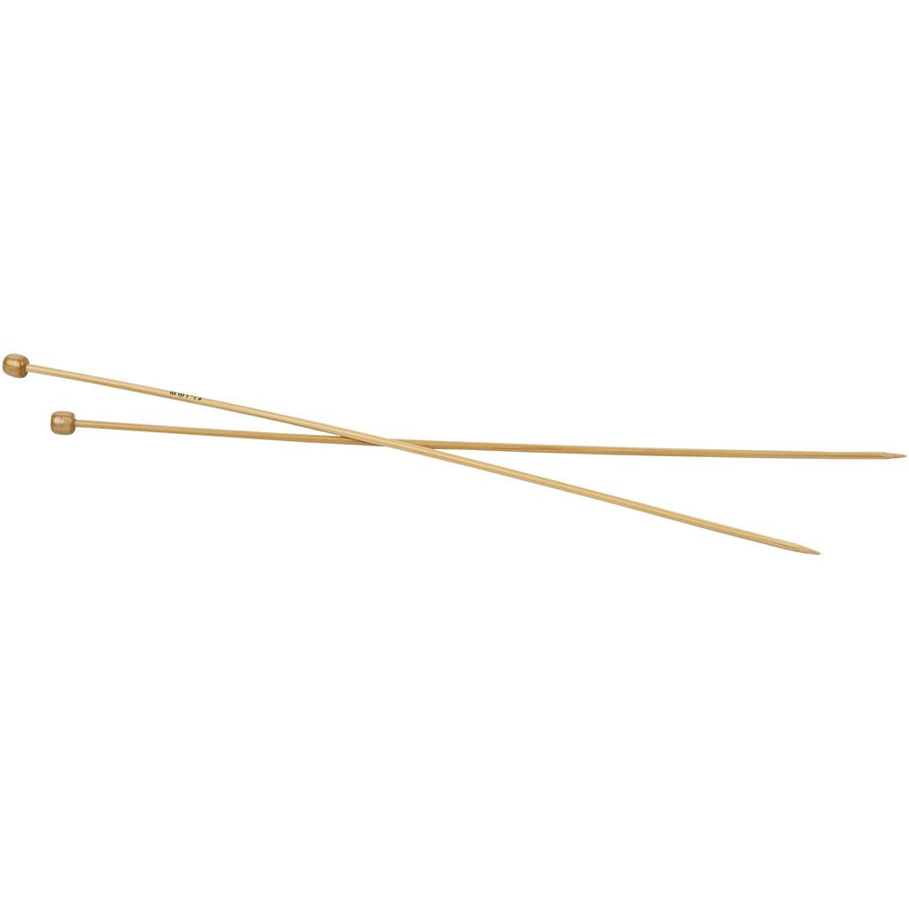 Strikkepinde, nr. 3,5 , L: 35 cm, 1par