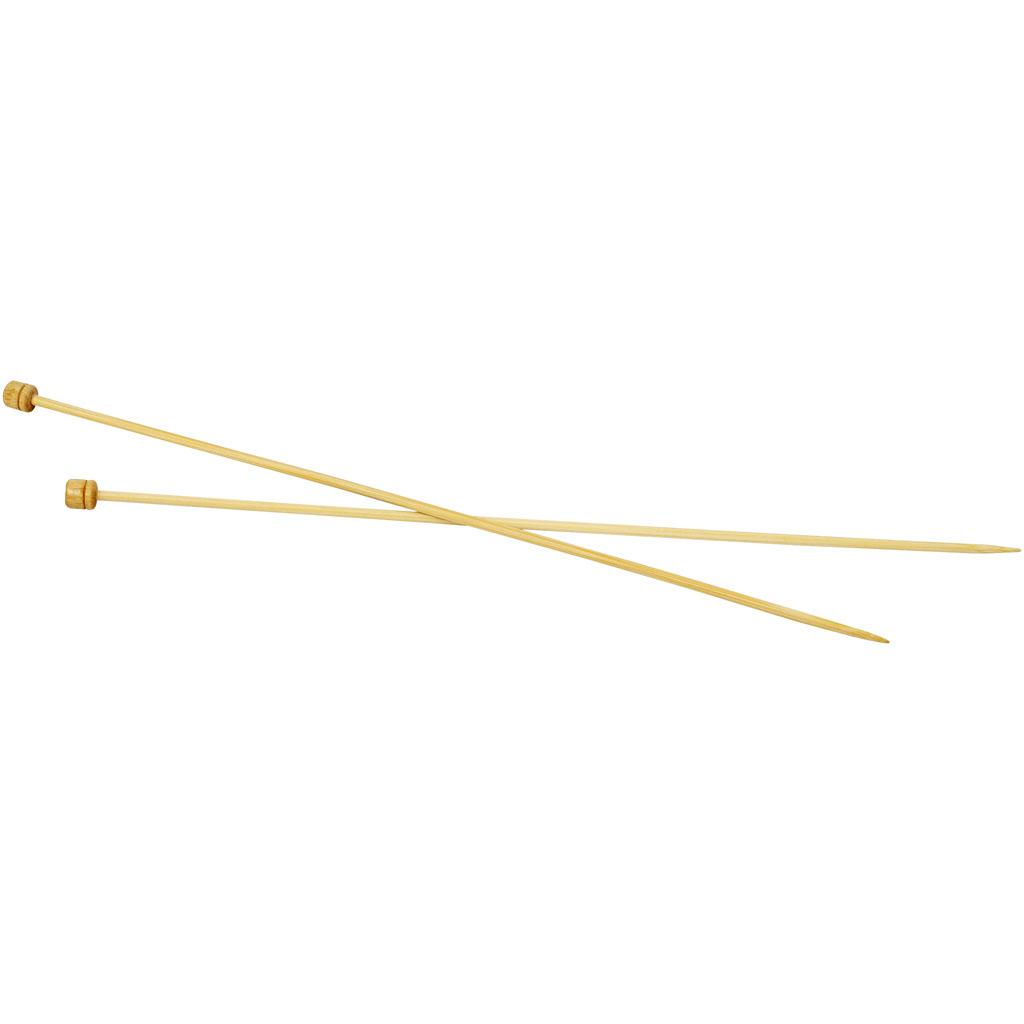 Strikkepinde, nr. 4 , L: 35 cm, 1par