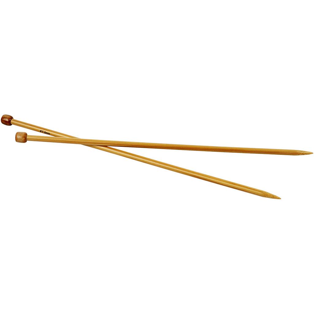 Strikkepinde, nr. 7 , L: 35 cm, 1par