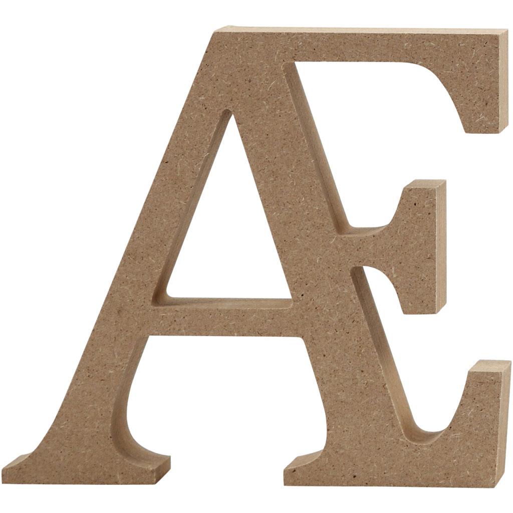 Bogstav, Æ, H: 8 cm, tykkelse 1,5 cm, MD