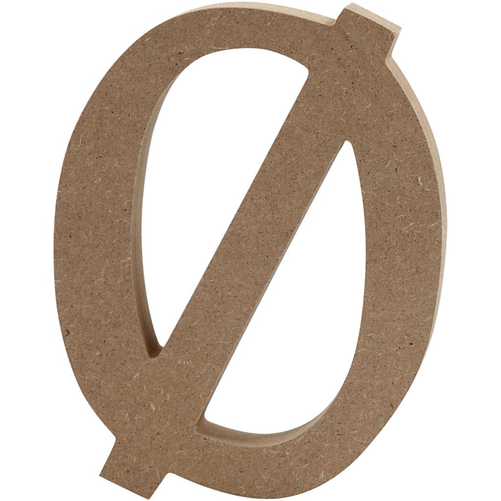 Bogstav, Ø, H: 8 cm, tykkelse 1,5 cm, MD