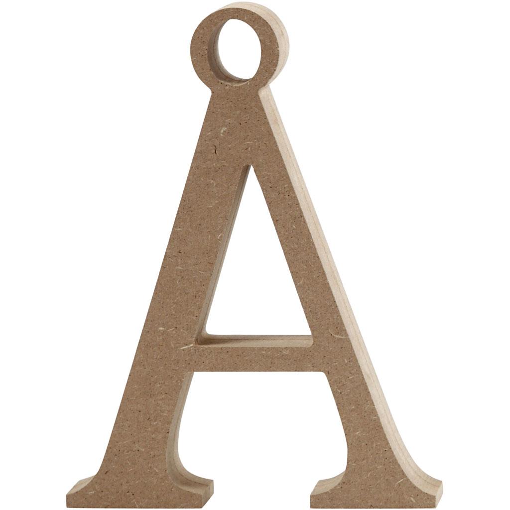 Bogstav, Å, H: 8 cm, tykkelse 1,5 cm, MD